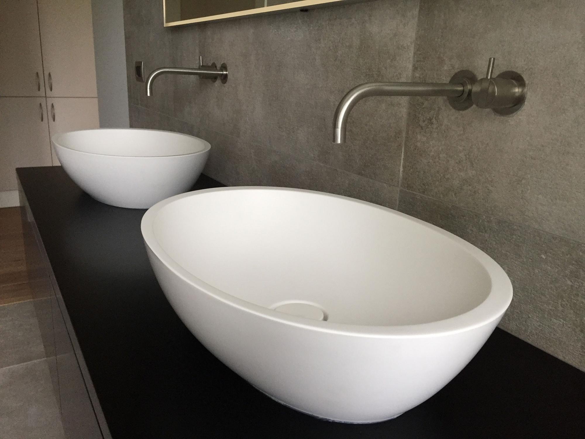 Design Badkamer Matten : Strakke badkamers met mat wit sanitair alligna keuken bad